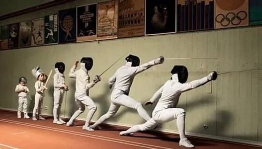 "The sport of fencing also known as a ""physical game of chess"""