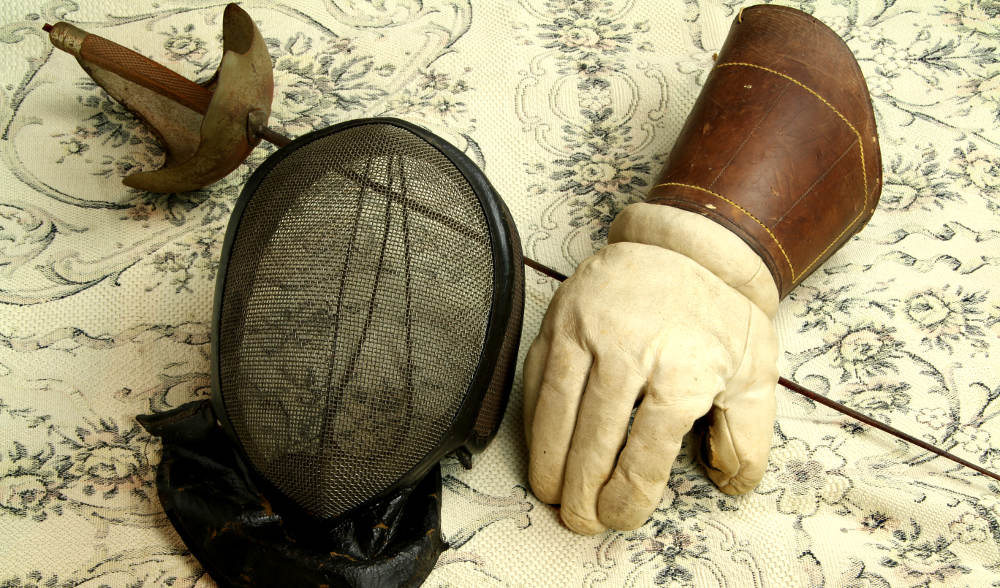 Equipment of an old fencer