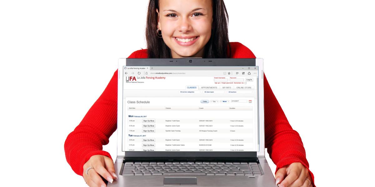 Sign-up to WCFA's MINDBODY Online Scheduler